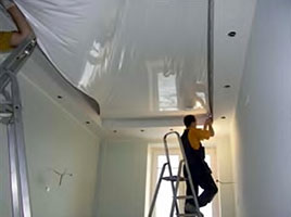 Installation of tension ceilings